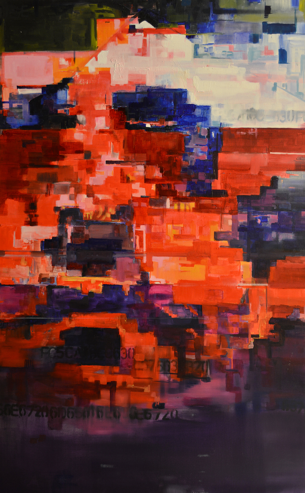 "l//k/b/bh//s/, 30"" x 48"" oil on canvas"