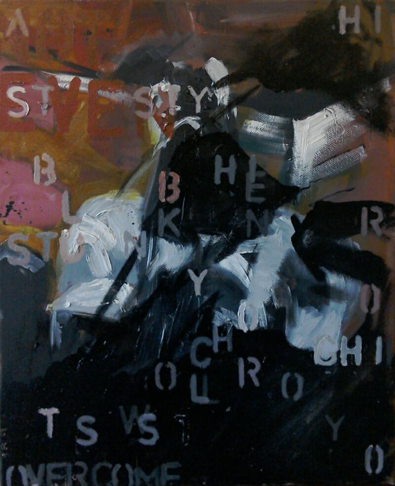 broken syntax, oil on canvas