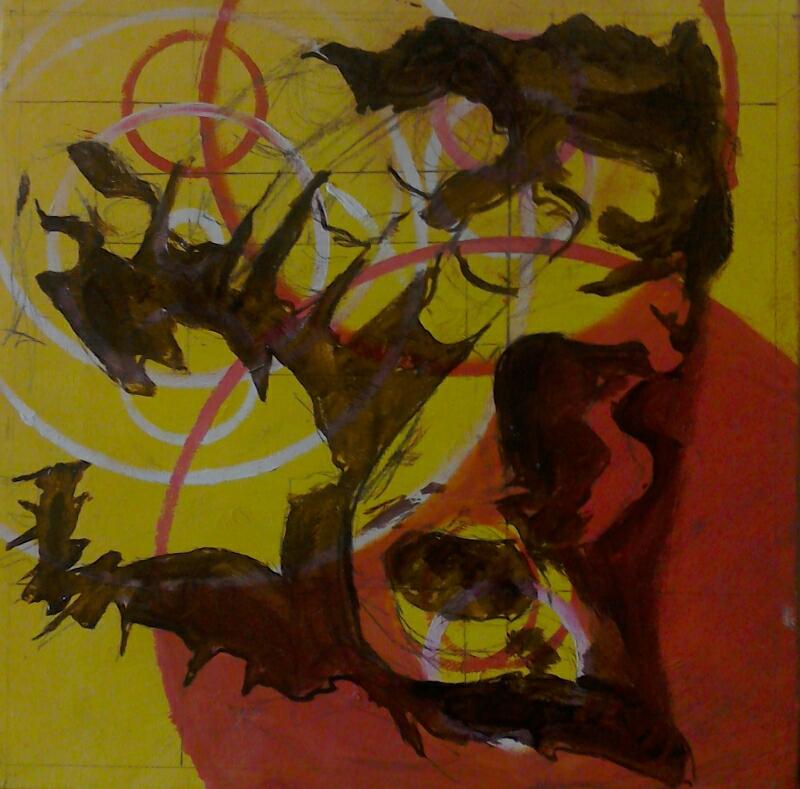"""generation chiaroscuro, oil on canvas, 9"""" x 9"""""""