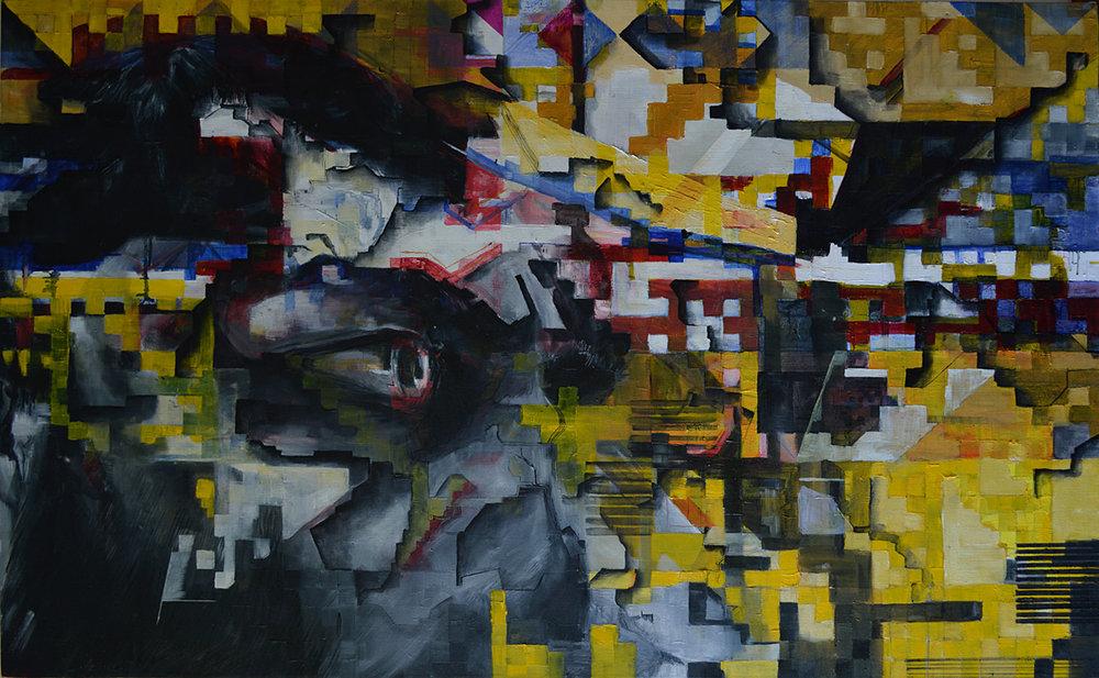 Generation Fragmentation, 122cm x 76cm, oil on deep edged canvas.