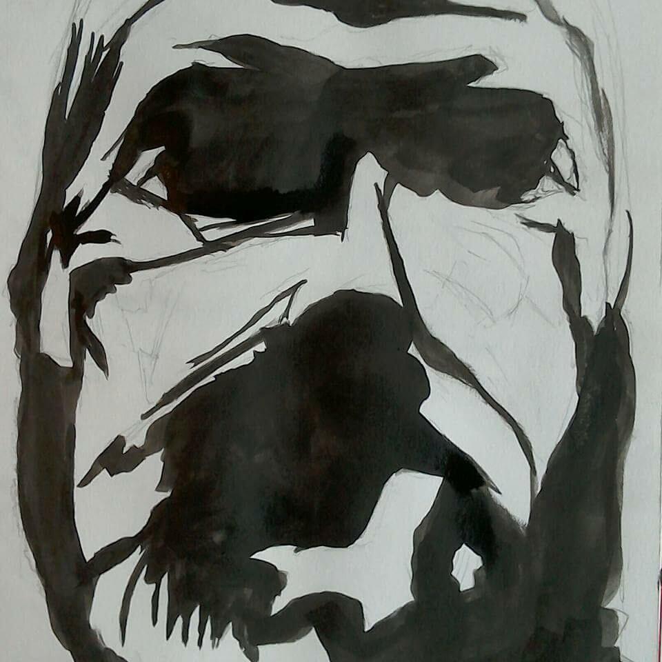20 Minute self portrait in ink.