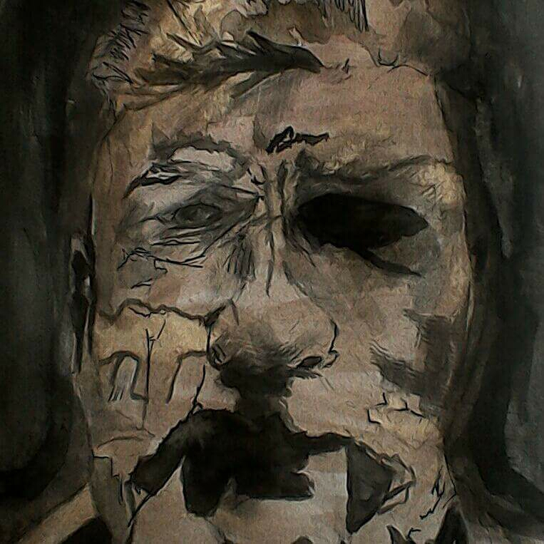 30 minute self portrait in ink.