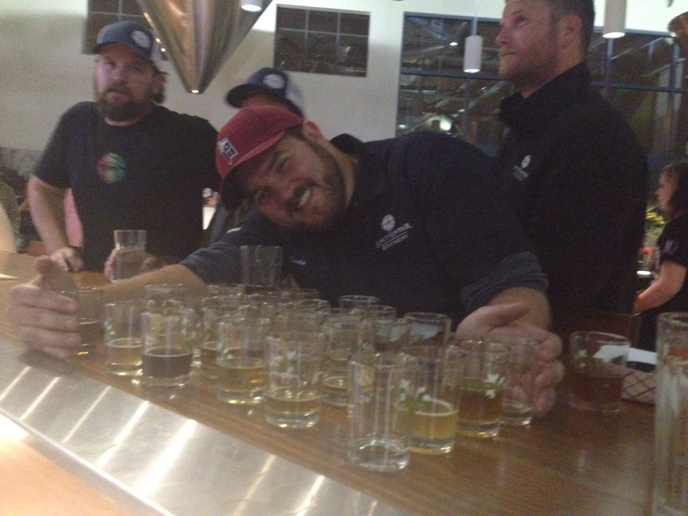 Dustin with our Epic Brew Co flight