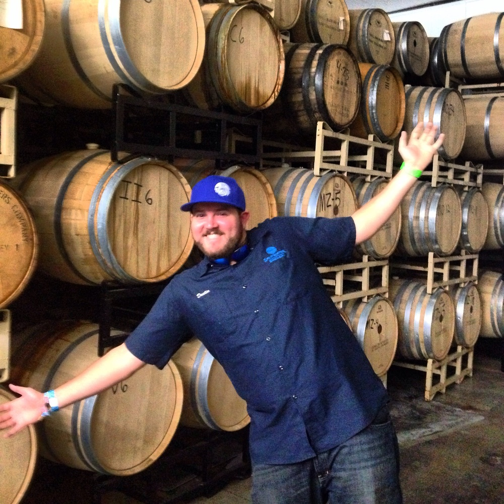 Barrel room at Odell's (Dustin's Favorite place on the trip)