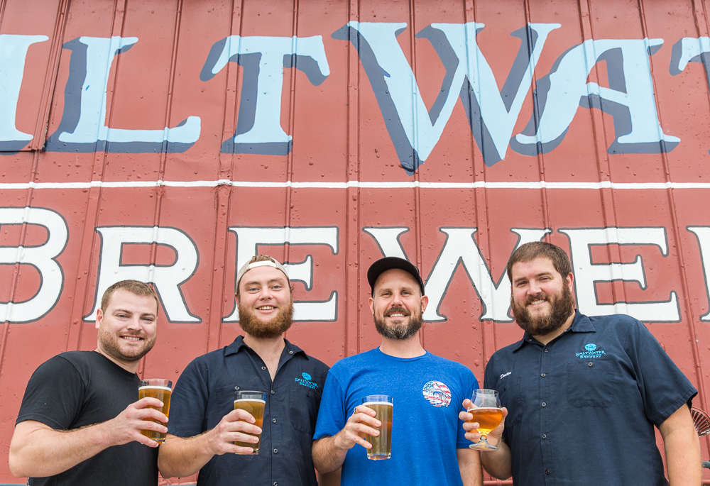The Brew Team (from left to right): Justin Rick, Head of Brewing; Tyler Immel, Brewer; Morgan Pierce, Brewer; Dustin Jeffers, Head of Operations
