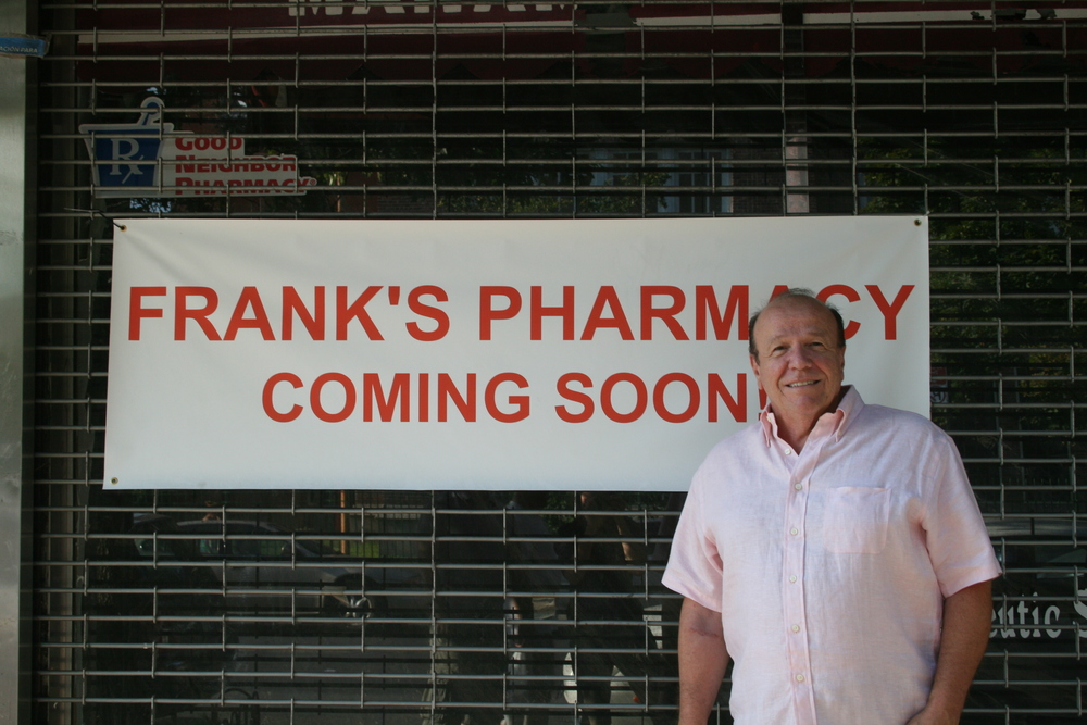 Frank Buonagurio hopes to reopen his pharmacy, damaged in a fire earlier this year, sometime in September. Photo by Jackie Strawbridge.