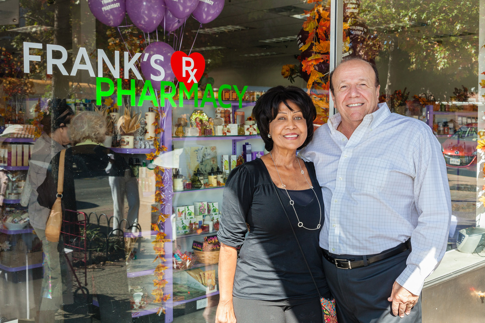 Frank Buonagurio and wife Nidia Fortuna-Buonagurio, the store's visual merchandising artist