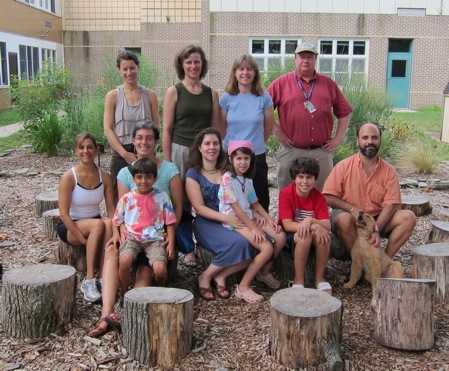 small group of people involved in Princeton green schools council