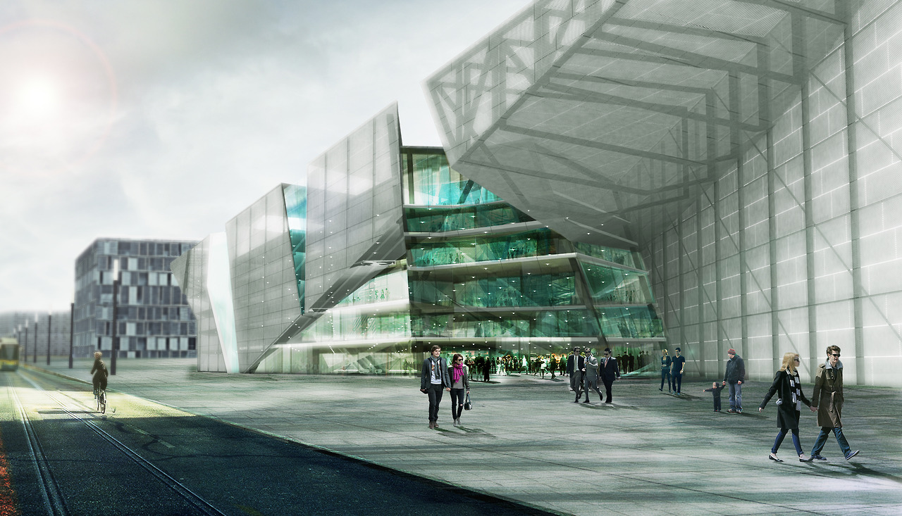 Here's an image from our competition entry for the  New National Center for Contemporary Art  in Moscow.