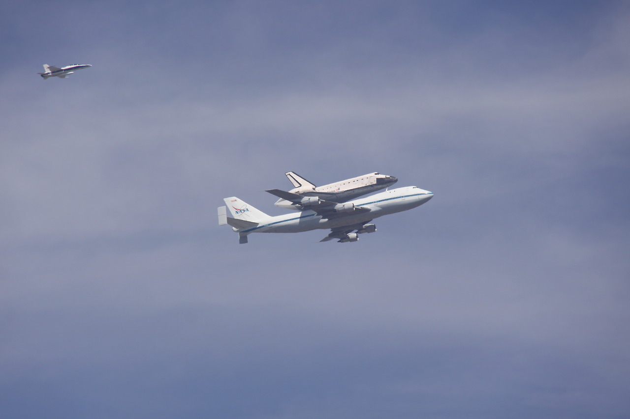 Today we had lunch on the roof to celebrate Andrew's birthday. It was nice of the space shuttle to do a flyover in his honor.