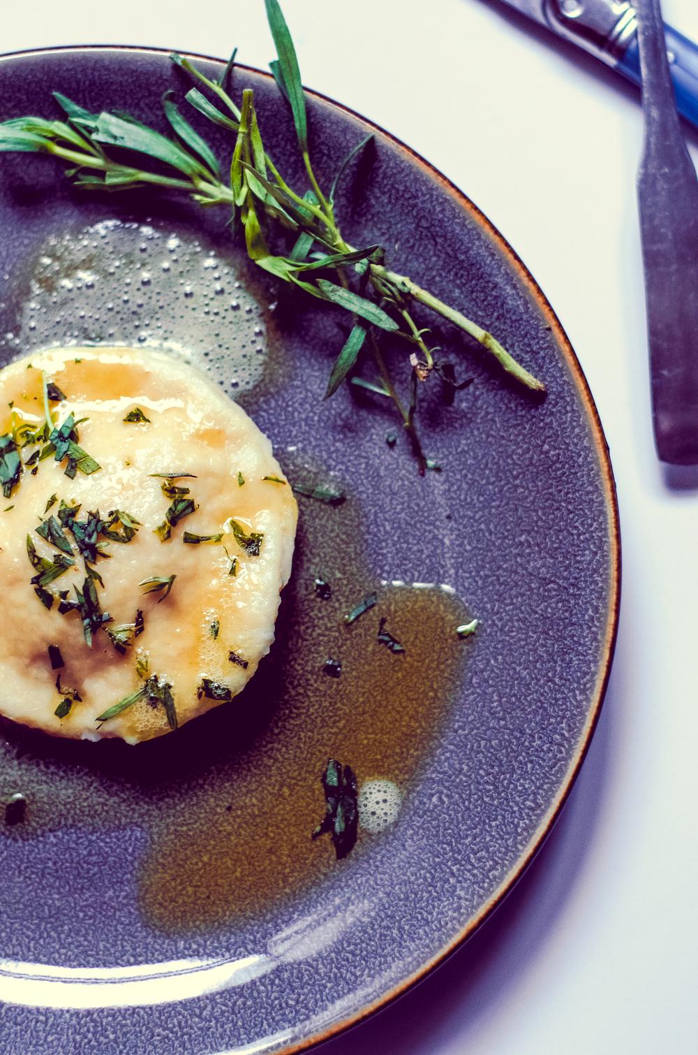 egg yolk ravioli