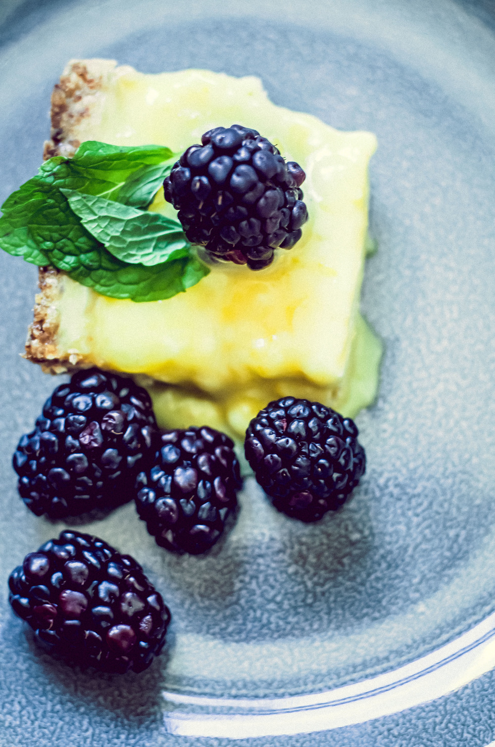 lemon blackberry goat cheese tart