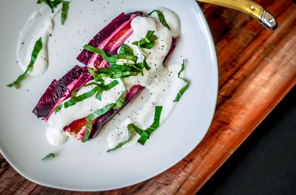 beet terrine with horseradish cream