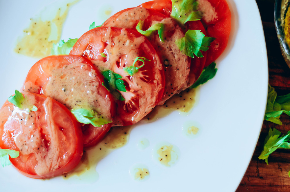 tomatoes with bagna cauda