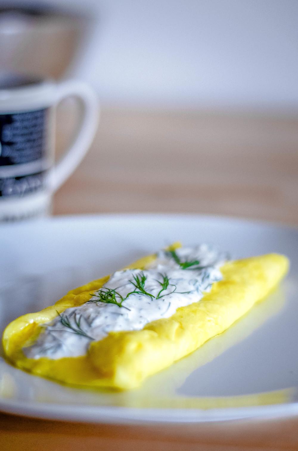 dill omelet