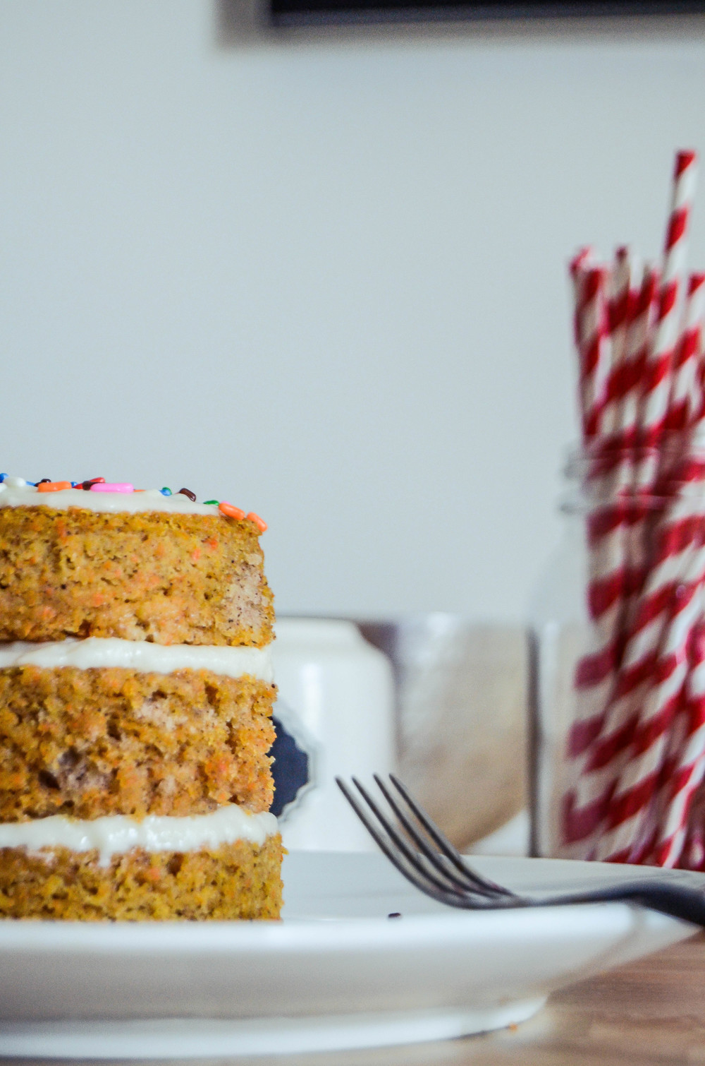 carrot cake with maple cream cheese frosting — spoontang