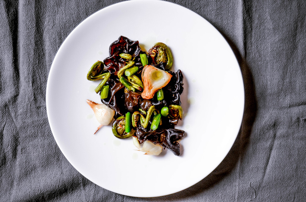 fiddlehead fern salad