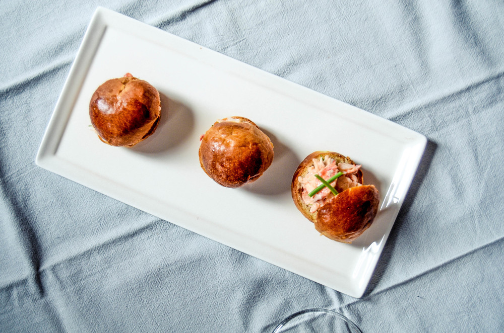 lobster sliders on brioche