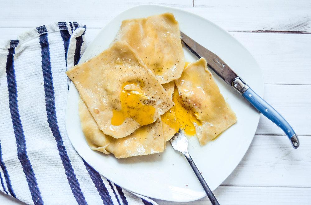 raviolo di uova