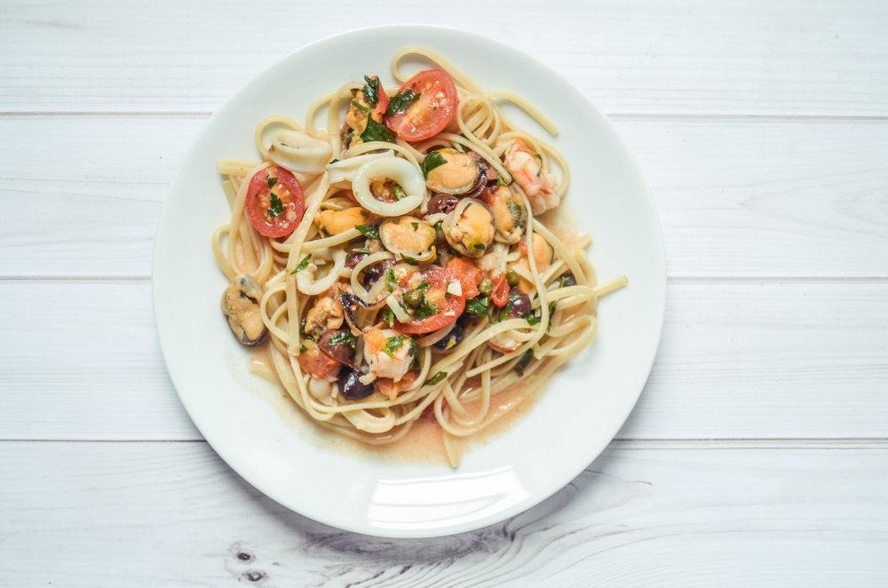 seafood pasta puttanesca
