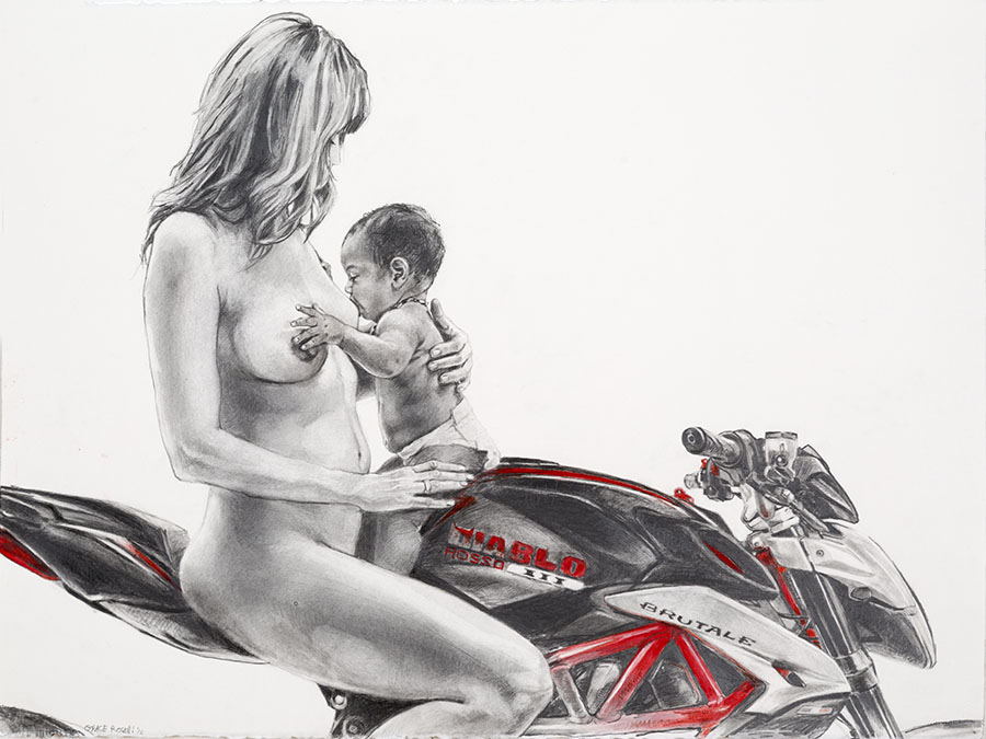 Martina_MV Agusta, graphite on paper, 2016