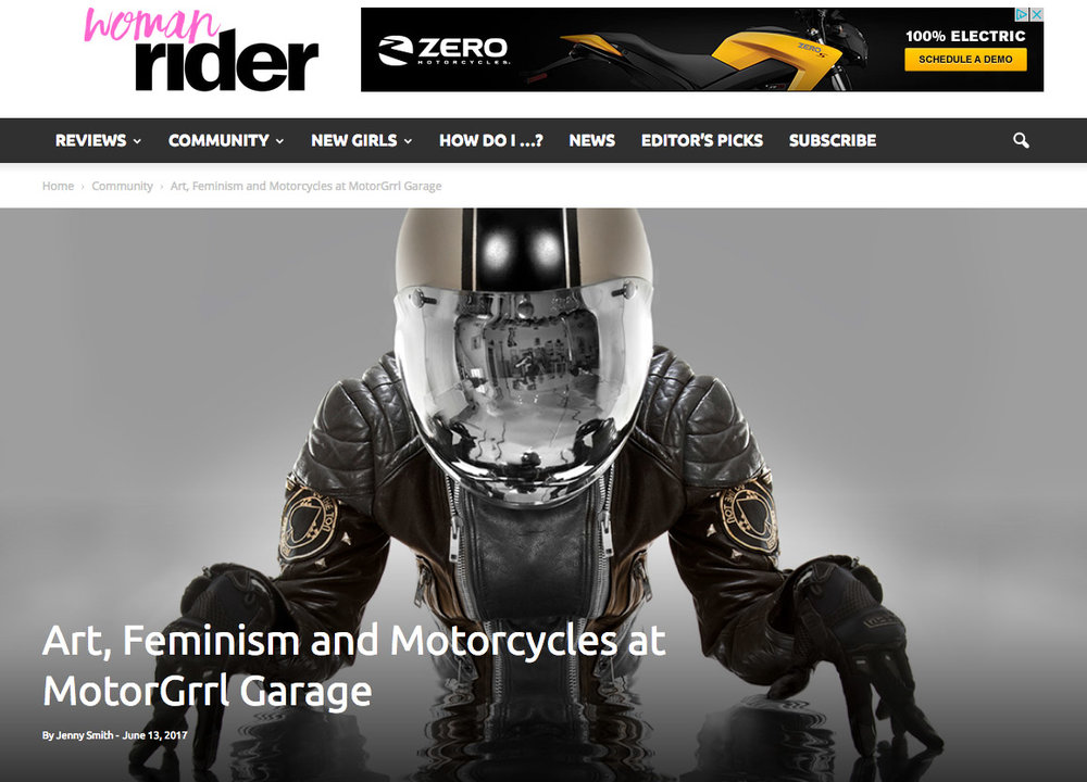 """Art, Feminism and Motorcycles at MotorGrrl Garage"" by Jenny Smith"
