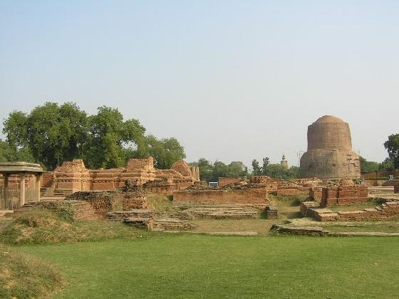 Sarnath, the site of the Buddha's first teaching