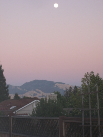 Moon over Mount Diablo