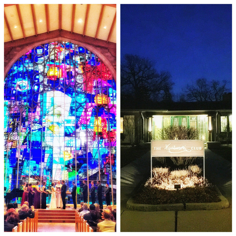 Such Beautiful weather last weekend for a February wedding. Check out the tiny Bride and Groom at Alice Millar Chapel in Evanston followed by the Reception at the Kenilworth Club. © Rick Aguilar Studios