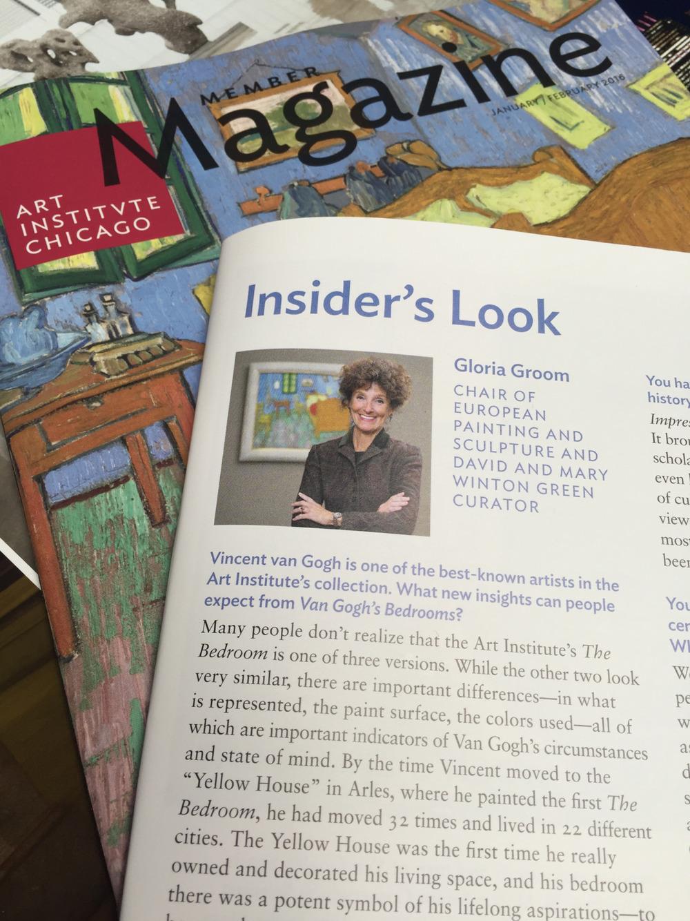 Gloria Groom's newest portrait in print in the Members Magazine #artinstitutechicago