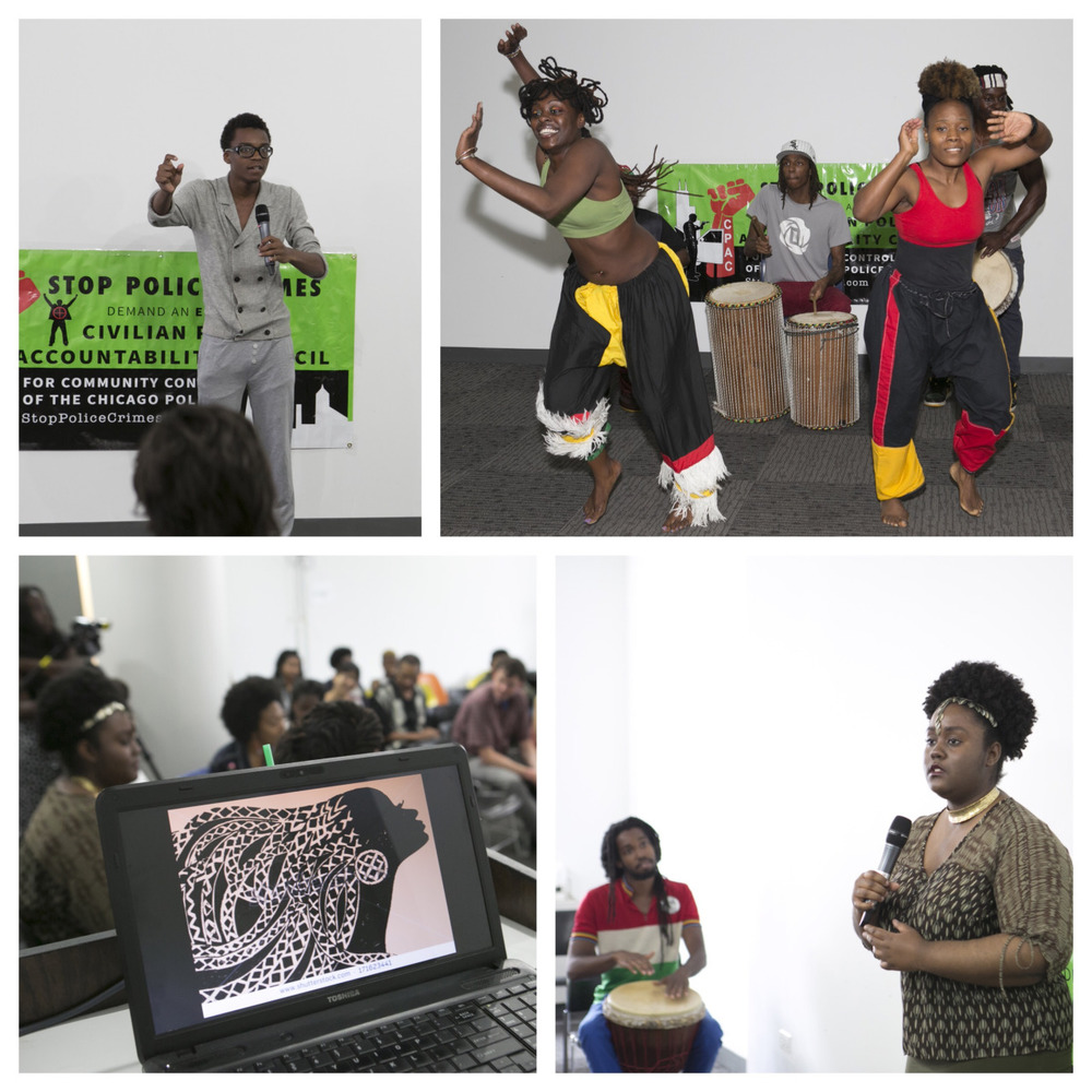 Gallery 400 and the Chicago Alliance Against Racist and Political Repression for This Stops Today: Creative Expressions on Police Accountability, Anti-Violence & Community Safety. June 2015 © Clare Britt Photo