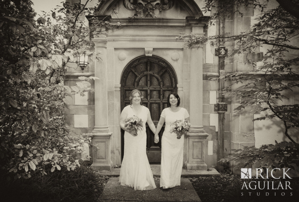 Beautiful Fall Wedding at Morton Arboretum. Congratulations to Theresa and Diane.  Clare Britt for ©Rick Aguilar Studios