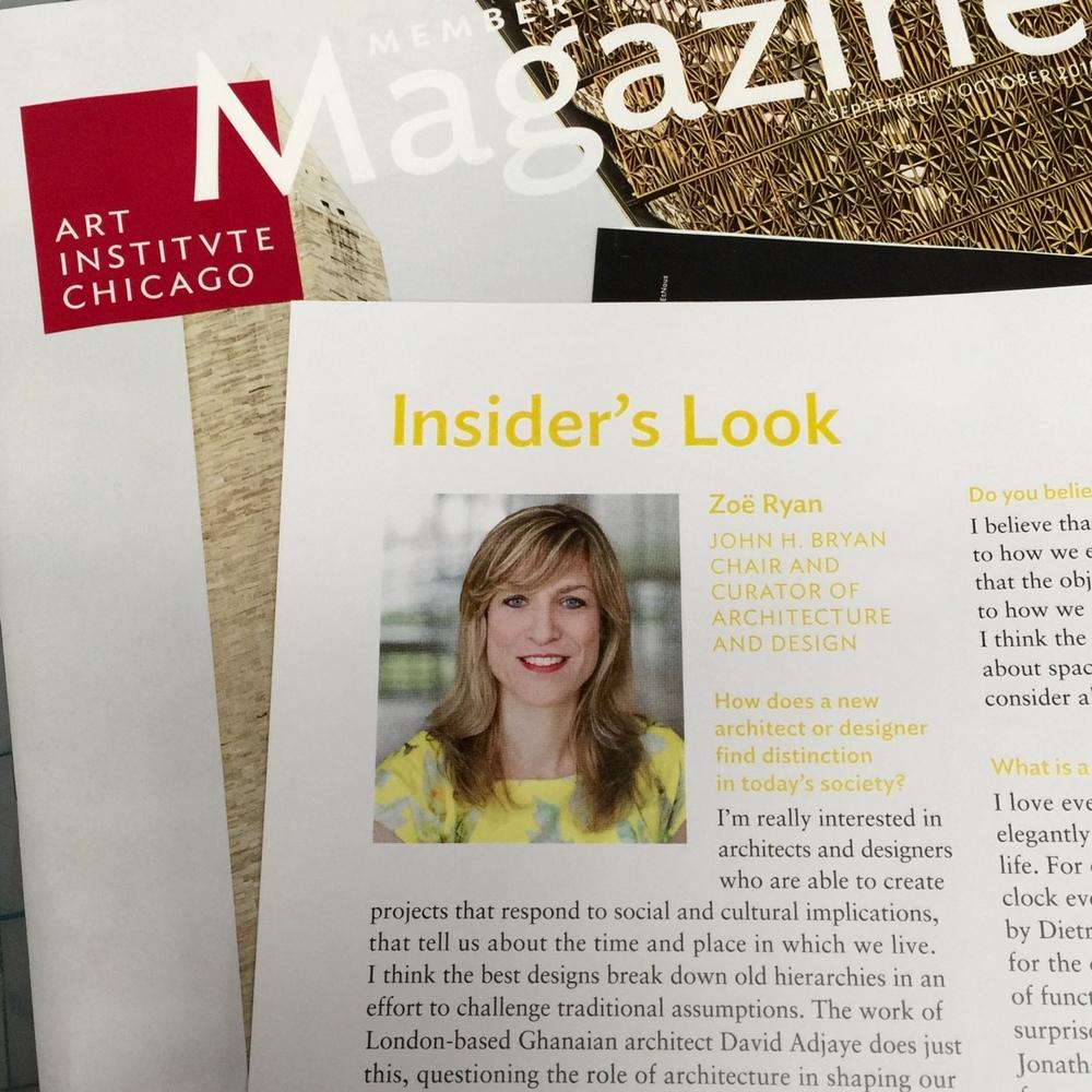 Zoe Ryan head shot for the Art Institute Members Magazine. ©AIC