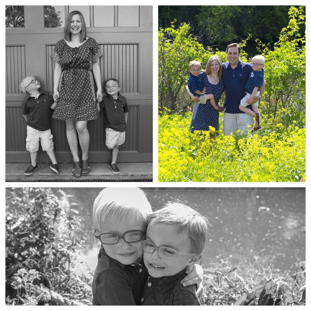 Super cute summer time portraits of the Ebner family.    © Clare Britt Photo