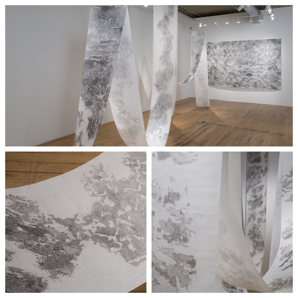 Installation images from Mariana Sissia's body of work Mental Landscape at THE MISSION     © Clare Britt Photo