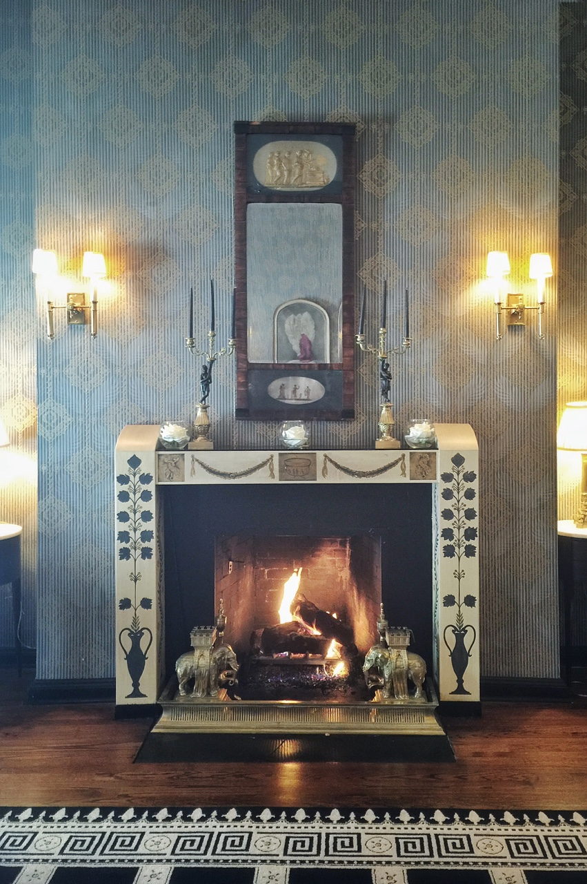 Fireplace at The Casino Club Chicago.