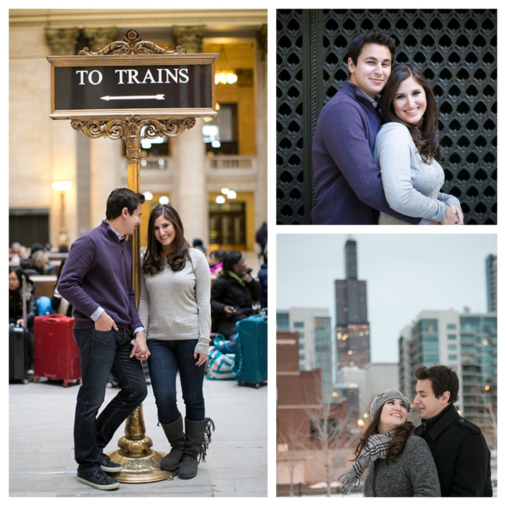 Excited to share images from my recent engagement portrait with Emily and Zach on Jan 10, 2015!    To stay warm and capture some of Chicago's historical architecture, we met at Union Station then braved the cold winter at Mary Bartleme Park located at Peoria and Monroe.    Emily and Zach are getting married Nov 14th, 2015 at The Blackstone Hotel on Michigan Ave    #rickaguilarstudios, #chicagounionstation, #engagementportraits, #marybartlemepark, #blackstonehotel, #chicago   © rickaguilarstudios