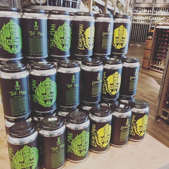 Stacked and ready to taste at @standardmarket in Naperville. Go get those #alemancans #freshyfresh
