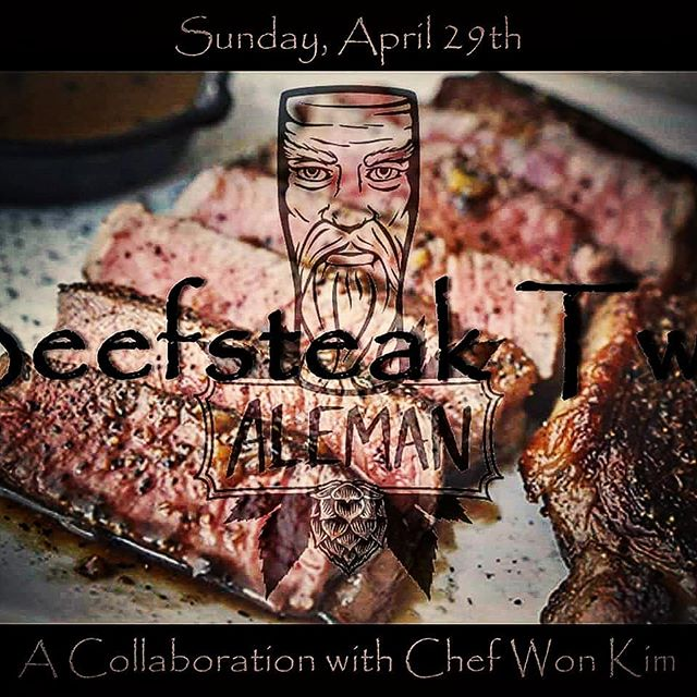 Only about 2 weeks til we Beefsteak. Have you grabbed your ticket yet? (https://www.brownpapertickets.com/event/3393748)  We've got food by @revisecmw, desserts from @publicanchicago, cocktails from @fewspirits, coffee by @glassworkscoffee and, of course, plenty of beer from yours truly.  This definitely will not suck.