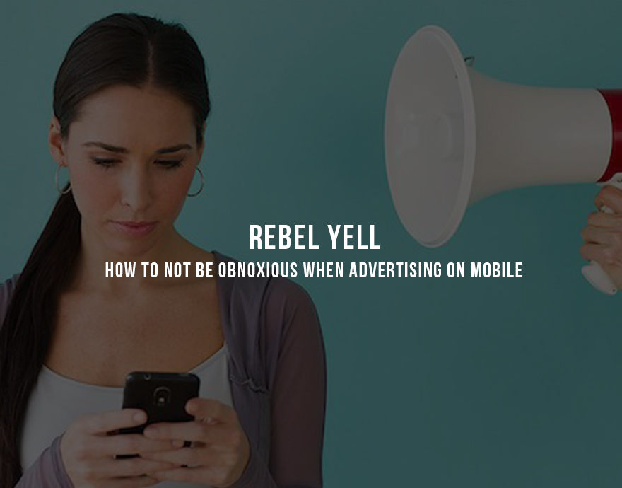 "Rebel Yell: How to not be obnoxious when advertising on mobile Banner ads, coupons, and interstitials are becoming a thing of the past for many leading mobile brands. At this week's Shopper Marketing Summit outside Chicago, Manuel Rosso, CEO of Food on the Table, said, ""Nobody clicks on mobile banners, it's a terrible message medium.""  Banners were once touted as a key tool for app promotion and monetization because they were easy to set up and wouldn't distract users from the app they were using. But with newer apps that meticulously utilize every inch of screen real estate, many app developers are finding that sacrificing the lower-third (or full screen) of their app to an advertiser disrupts the experience for their users.  In addition, brand experts point out that banners (and coupons) tend to be poor drivers of brand engagement and loyalty. While they increase the brand's presence, tappable in-app ads tend to encourage the wrong type of consumer behavior. Bryan Leach, founder and CEO of Ibotta, said, ""Digitizing coupons is a poor investment"" because ""it reinforces a transactional relationship with the consumer."" It's better to encourage consumers to engage than to transact. The hard part for developers and brands is that creating engagement doesn't follow a simple formula. Some brands have sought to tell stories or build games in order to encourage brand loyalty and trigger rewards. Target and Starbucks are two such brands that have steered their mobile apps towards engagement and rewards, and away from transaction (although they both offer in-app transaction capabilities). Both have seen significant increases in mobile adoption and sales.  Messaging is still an important part of the mobile brand toolset, but it needs to be selective, relevant, and timely. Selectivity means messages need to be delivered for special purposes, such as to announce a sale or event. Relevance means messages need to be sent to the right audience segments, i.e. the ones most likely to be interested in the content of the message. Timeliness means that messages need to be delivered at times when users are most likely to read them and take action.  Following these three rules will help any brand put together an effective mobile messaging strategy, but this is still secondary to the function of the app itself. Brands that want to benefit from mobile need to develop concepts about how to offer non-transactional value to customers. Whether this is done through storytelling, design, user experience, gameification, rewards, or some other method doesn't matter so much; what matters is that the mobile app gets users interested in the brand apart from merely offering ways to buy. Interest breeds brand appreciation, which increases the likelihood of consumers to transact, which in turn helps to boost sales."