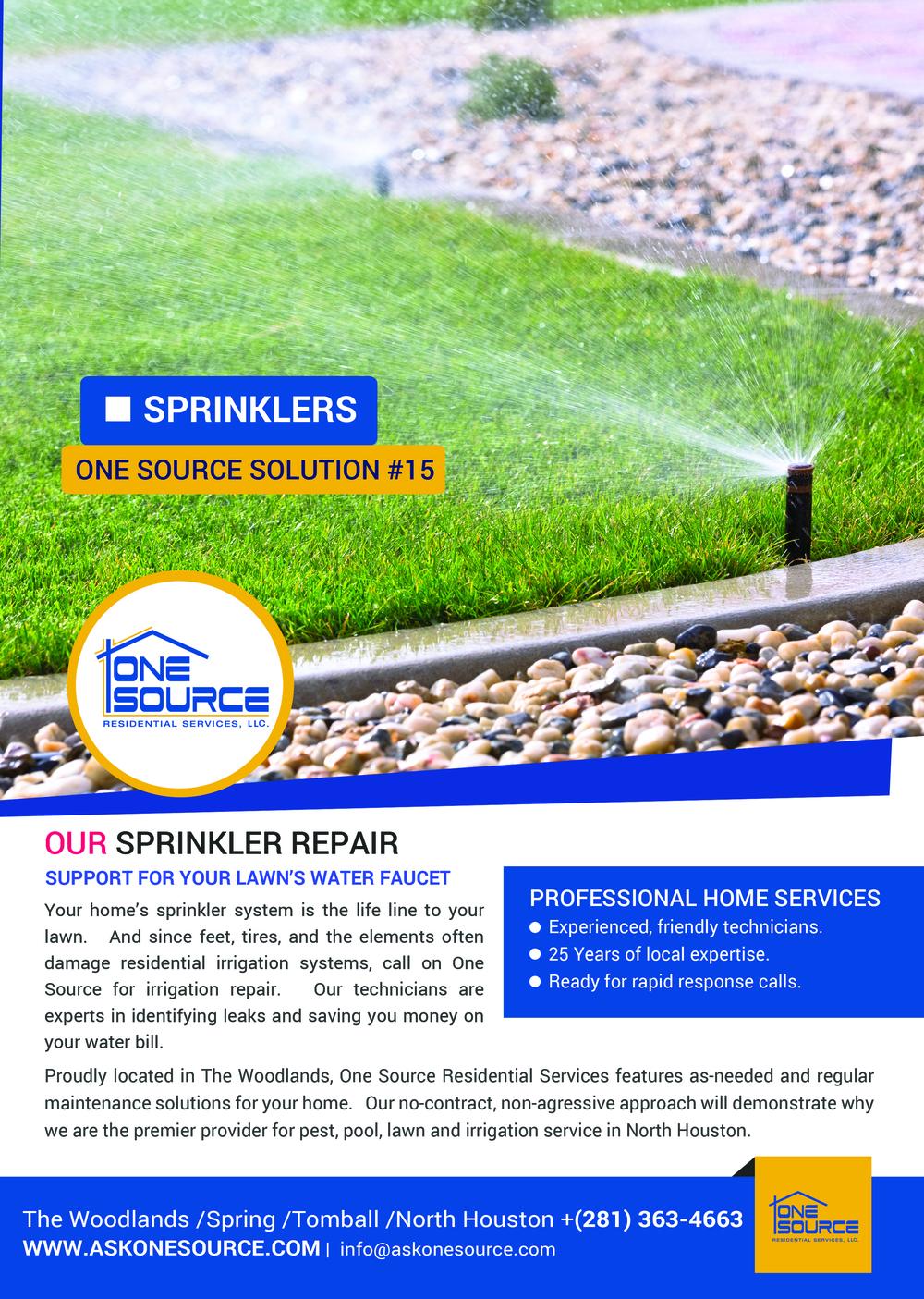 Sprinkler Systems The Woodlands