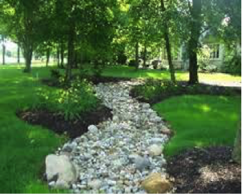 Proper Lawn Drainage Path The Woodlands, Texas