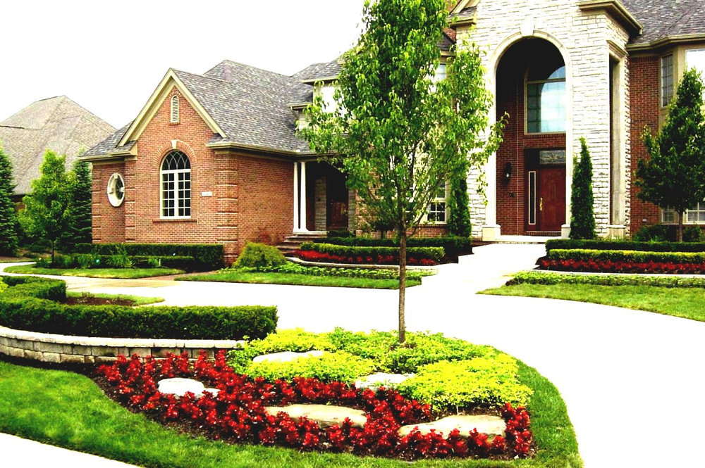 Landscaped Yard In The Woodlands