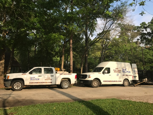 Pest Control Trucks In The Woodlands, Texas