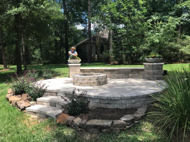 The Woodlands Landscape Design - Completed Stonework