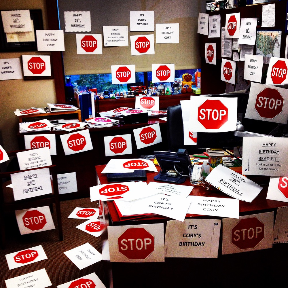 This is how my office looked today when I arrived at work. I love my job and I love this City!