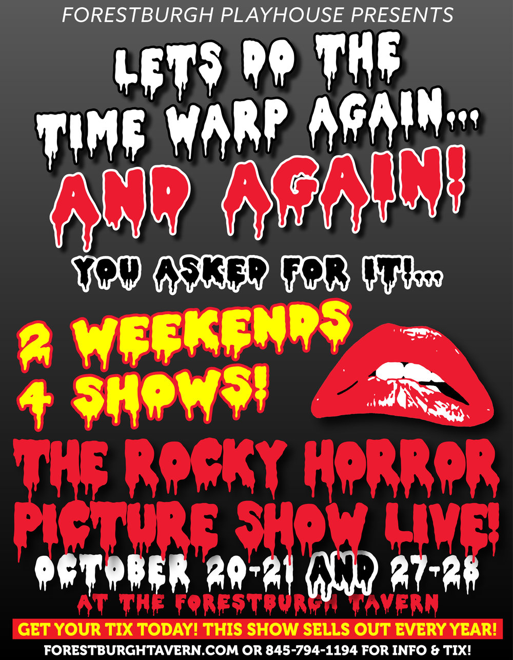 THE ROCKY HORROR PICTURE SHOW LIVE!  Click For Tickets!