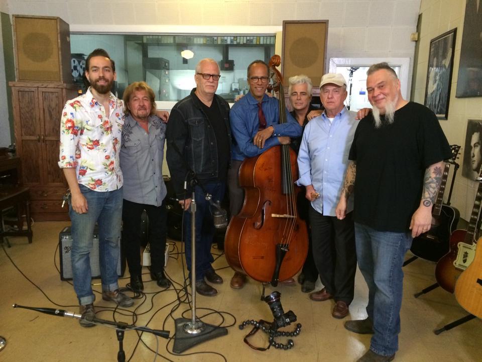 L-R Matt Ross-Spang, Jerry Phillips, Dave Roe, Lester Holt, Dale Watson, J.M. Van Eaton, Rick Steff. Photo by Kim Cornett