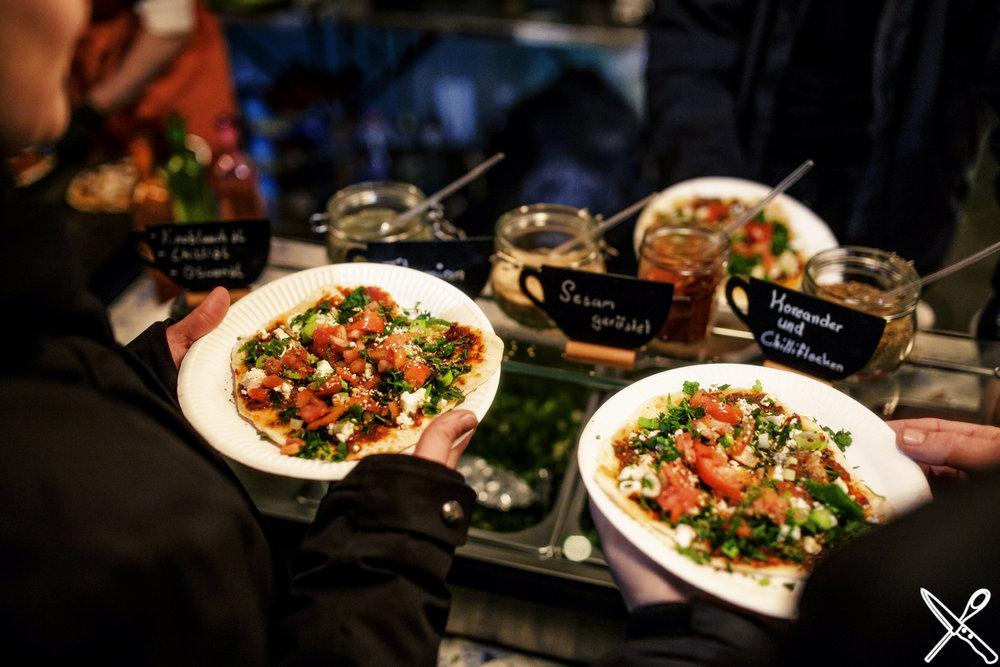Selbst belegte Falafel Salattaschen