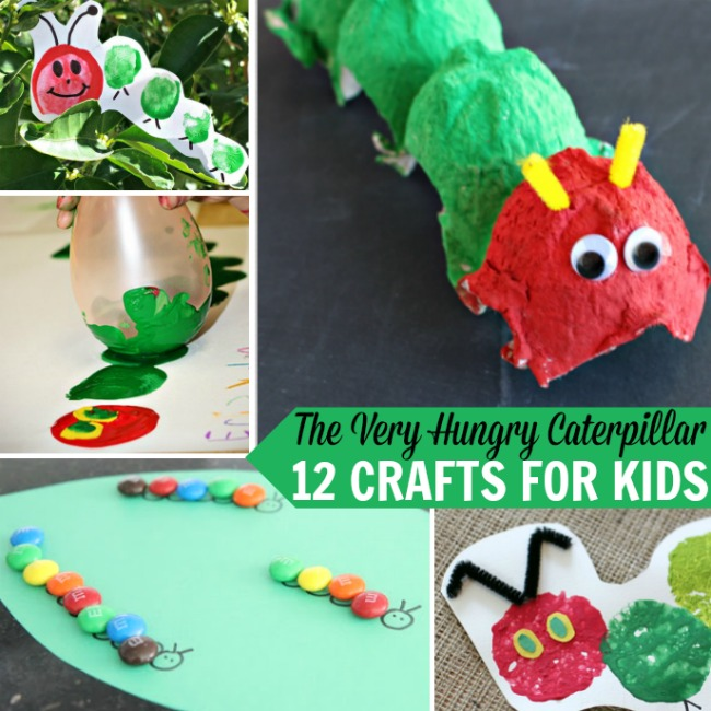 http://www.therealisticmama.com/the-very-hungry-caterpillar-12-crafts-for-kids/